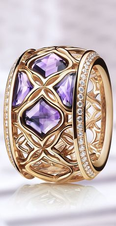 Chopard ring with Purple Gemstones