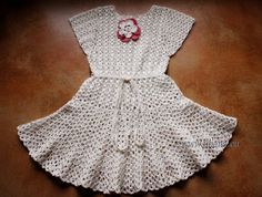 Crochet Dress Pattern No11 Sizes from New born to (adult) XXL