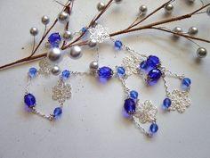Cobalt Blue and Silver #HAFshop #handmade $25.00
