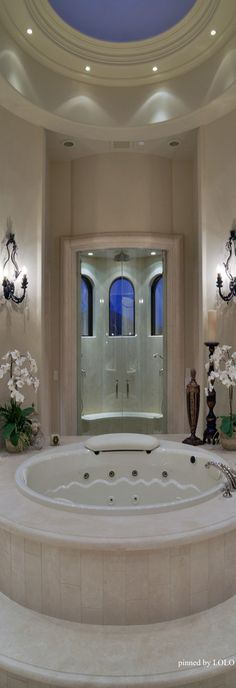 Traditional Lighting Design, San Diego - Traditional - Bathroom - San Diego - Tazz Lighting,Inc Mansion Bathrooms, Dream Bathrooms, Beautiful Bathrooms, Luxurious Bathrooms, Master Bathrooms, Bathroom Layout, Bathroom Interior Design, Bathroom Ideas, Bathroom Organization