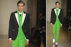statement suits for grooms unique grooms attire Moschino 2
