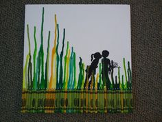 Melted Crayon Art. $15.00, via Etsy.