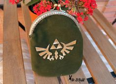 Legend of Zelda triforce bag anime cute kawai wallet purse handmade art [ present, christmas, valentine, children, adult] by AriBRabbitStore on Etsy