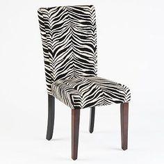 Zebra Parsons Chair #creativekitchen #kirklands