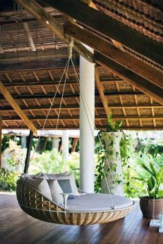 Outdoor Hanging Bed, Outdoor Beds, Hanging Beds, Outdoor Chairs, Outdoor Living, Outdoor Decor, Hanging Chairs, Outdoor Bedroom, Outdoor Spaces