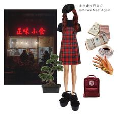 """また会うまで"" by ros-kayle ❤ liked on Polyvore featuring Glamorous, Moschino Cheap & Chic, Betmar, Nearly Natural and Fjällräven"