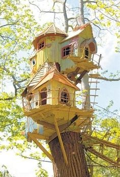 TREE HOUSE – amazing treehouse! Love tree houses