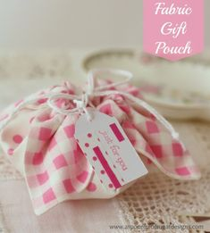 Christmas Gift Pouch - A Spoonful of Sugar