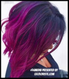 is the artist. Pulp Riot is the paint. Pulp Riot Hair Color, Ombre Hair, Dyed Hair, Hairstyle, Long Hair Styles, Photo And Video, Artist, Paint, Beauty