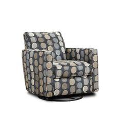 Latitude Run Niemi Swivel Armchair Upholstery Color: Gray Swivel Glider Chair, Swivel Club Chairs, Swivel Armchair, Dining Chairs, Black Furniture, Shabby Chic Furniture, Cool Furniture, Buy Chair, Soothing Colors