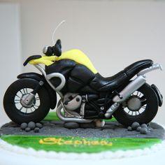 motorbike cake topper!