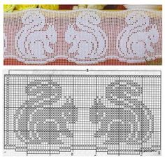 Follow link for several beautiful fillet crochet patterns...