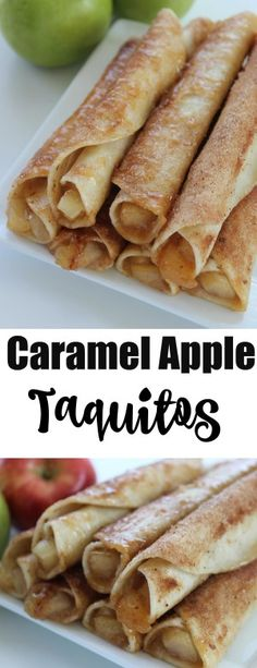 Caramel Apple Taquitos Looking for an easy Apple Recipe? Well these Caramel Apple Taquitos are so amazing and easy to make!Looking for an easy Apple Recipe? Well these Caramel Apple Taquitos are so amazing and easy to make! Just Desserts, Delicious Desserts, Yummy Food, Easter Desserts, Baking Desserts, Party Desserts, Health Desserts, Mexican Food Recipes, Dessert Recipes
