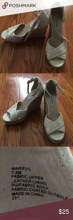 Steve Madden Espadrilles Steve Madden Espadrilles. Ankle buckle. Fantastic, barely used condition. Steve Madden Shoes Espadrilles