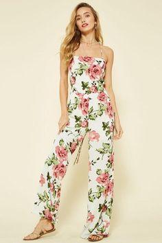 'zoe' floral cross back jumpsuit