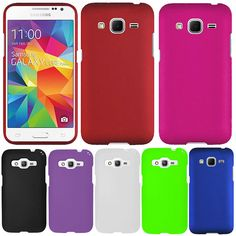 For Samsung Galaxy Core Prime G360 Color Rubberized Snap On HARD Case Cover #UnbrandedGeneric