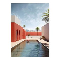 Colour Architecture, Minimalist Architecture, Interior Architecture, Exterior Design, Interior And Exterior, Modern Buildings, Pool Houses, House Design, House Styles
