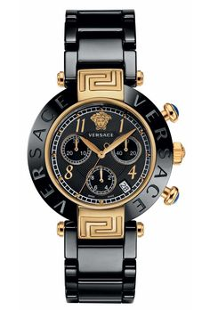 Versace Women's Reve Black Ceramic Stainless Steel Chronograph Watch With Black Rubber Band Versace Logo, Versace Men, Black Queen, Cheap Watches, Watches For Men, Ladies Watches, Wrist Watches, Black Rubber Bands, Vip Fashion Australia