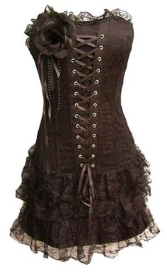 Black corset with skirt from Best Price Corsets.