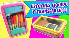 Estos estuches transparentes esconden líquido en su interior, ¿Quieres ver cómo se hacen? Una forma original de organizar tus cosméticos o útiles escolares.