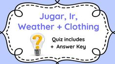 Spanish gustar classmate interview activity spanish ser spanish 1 quiz jugar ir weather and basic clothing expresate 1 chapter fandeluxe Image collections