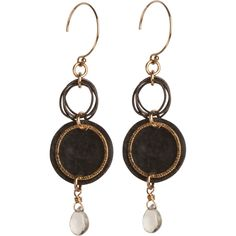 Tracy Arrington Studio: Sienna - E145 GO14K Gold Filled, Oxidized Sterling Silver, Moonstone