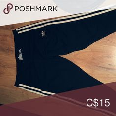 Shop Women's adidas Black White size M Leggings at a discounted price at Poshmark. Adidas Pants, Black Adidas, Adidas Women, Cheer Skirts, Leggings Are Not Pants, Black And White, Best Deals, Closet, Things To Sell
