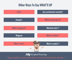 Other Ways To Say WHAT'S UP