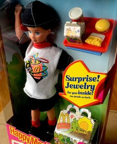 Mattel Happy Meal Todd Barbie Doll-NEW IN BOX 1993.#11475.McDonalds.Jewelry | eBay