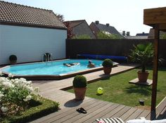 Pictures of Semi Inground Pools With Decks