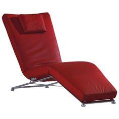 Bequeme Liege besticht durch hohe Qualität und rotes Design
