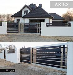 House Fence Design, Front Gate Design, Wooden Door Design, Wooden Doors, Balcony Grill Design, Outdoor Walls, Outdoor Decor, Metal Gates, Front Gates