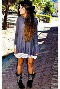 Oversized sweater plus skirt-genius