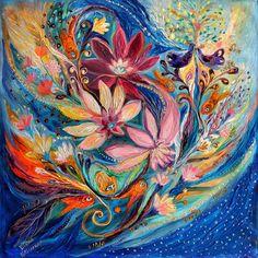 Four Elements IIi. Water Painting by Elena Kotliarker Sale Artwork, Colorful Art, Original Paintings, Spiritual Art, Elements, Painting, Art, Surrealism Painting, Ethereal Art