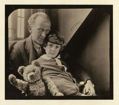 A. A. Milne  with his son Christopher Robin and Winnie the Pooh. Quotes http://www.goodreads.com/author/quotes/81466.A_A_Milne