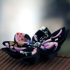 Clip Hair Flowers Kanzashi Alligator Hair Clip Purple by PetalMix, $24.00