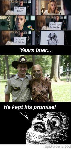 Rick Grimes keeps his promises lol!
