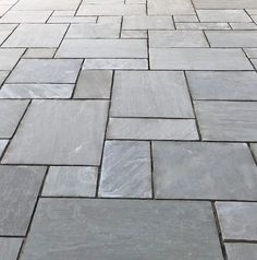 Our Kandla Grey Sandstone Paving suits a range of modern and traditional designs. This patio was created with our Kandla Grey Sandstone Patio Kit. Sandstone Paving Slabs, Paving Stones, Sandstone Cladding, Bluestone Paving, Patio Slabs, Paver Walkway, Cement Patio, Garden Paving, Garden Paths