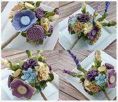 Felt Bouquet Wedding Bouquet Custom Garden by SugarSnapBoutique, $145.00