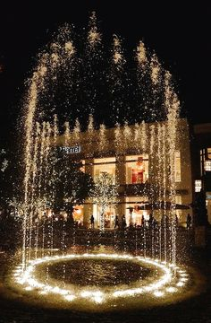 The fountain at the Grove Mall, Los Angeles, CA
