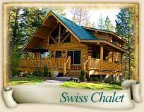 German Chalet Home Plans | Montana Log Homes | Amish Log Builders |  Meadowlark Log Homes