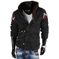 377b79cb2749 LEIF NELSON Herren Strickpullover Pullover Sweatshirt LN20711  Grš§e S,  Schwarz