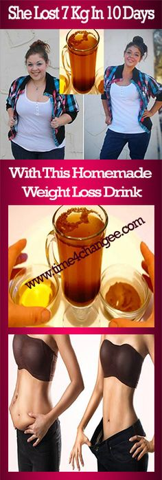 She lost 7 kg in 10 days with this homemade weight loss drink