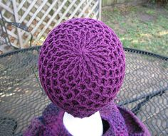 Diamond Ridges free crochet hat pattern by Kristy Ashmore