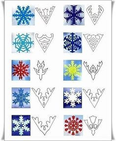 Christmas Winter Decorating. Paper Snowflakes
