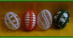 Easter crochet egg - pattern in Czech - but schemes included Easter Crochet, Thread Crochet, Beautiful Crochet, Easter Crafts, Happy Easter, Eggs, Knitting, Christmas, Handmade