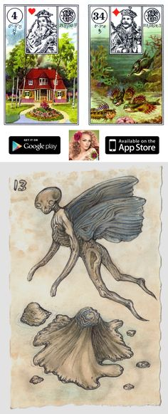 ☞ Install the free app on your iOS and Android device and enjoy vintage lenormand cards, card combinations and how to read lenormand cards, list of lenormand card combinations and lenormand fox.