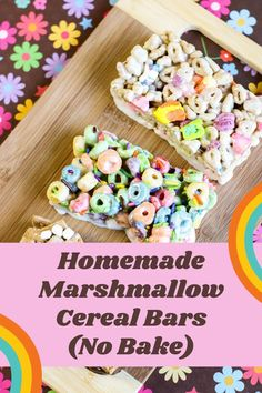 These Homemade Marshmallow Cereal Bars (No Bake) are such a perfect treat for the kids! They're even better than the store-bought ones, and easy to make. White Chocolate Brownies, Chocolate Bowls, Melting Chocolate, Cereal Treats, Cereal Bars, Homemade Brownies, Homemade Marshmallows, Potluck Desserts, Dessert Recipes