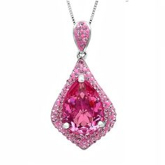Sterling Silver Pink Crystal Drop Pendant With Swarovksi Crystals ($50) ❤ liked on Polyvore featuring jewelry, pendants, silver, drop pendant, crystal pendant, crystal jewellery, sterling silver jewellery and sterling silver jewelry
