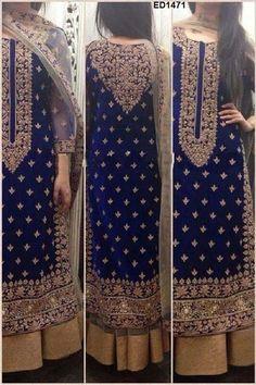 Bridal Reception Partywear Anarkali Dress  von Kunsthandwerkfüralle auf DaWanda.com